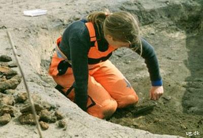 foto af arkæolog
