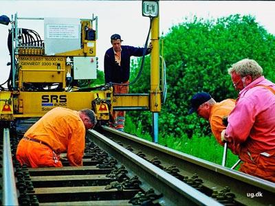 foto af jernbanearbejdere