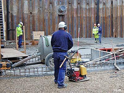 foto af byggearbejder