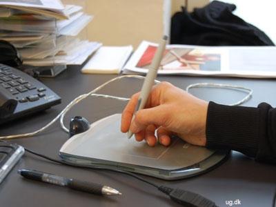 den grafiske pen erstatter musen