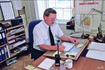 Havnefoged - Administrativt arbejde hører med til jobbet som myndighedsperson.