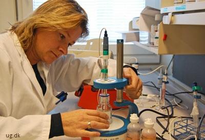 Birgitte arbejder tæt sammen med bl.a. kemikere og laboranter om projekterne.