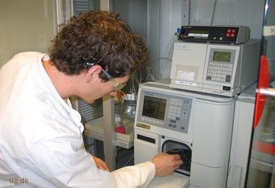 Resultatet af analysen får Steen direkte ind i et program på sin computer.