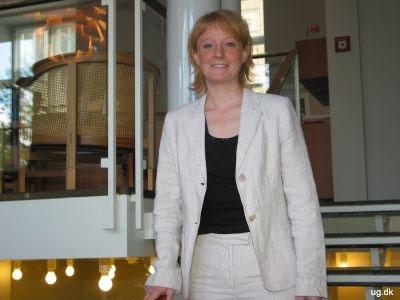 Foto af Line på trappe