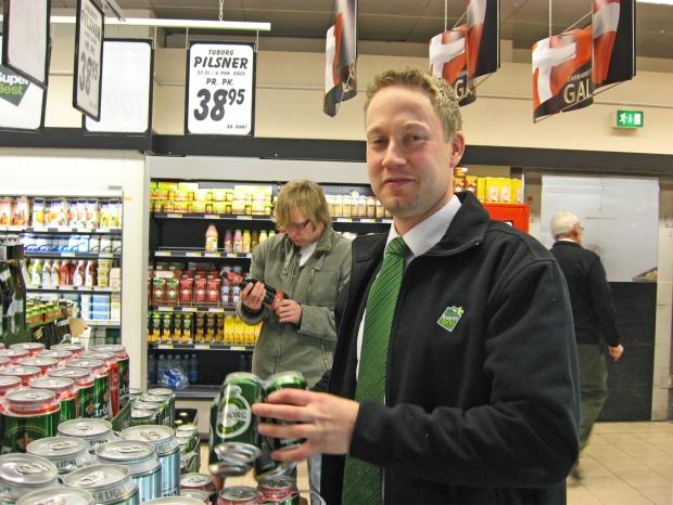 Foto af Thomas i fødevareafdelingen