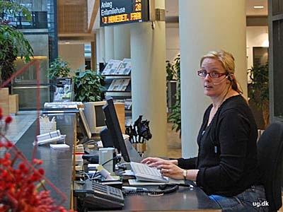 foto af receptionist