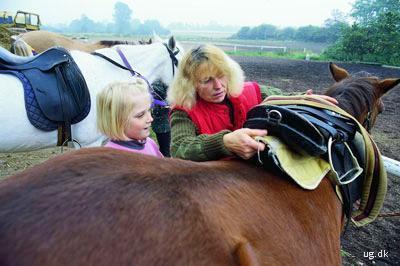 foto af ridelærer og elev