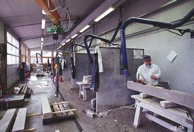 foto af stenhuggerværksted
