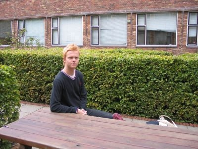 Foto af Thomas på Handelshøjskolen.