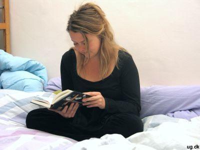 Foto af Andrea der læser