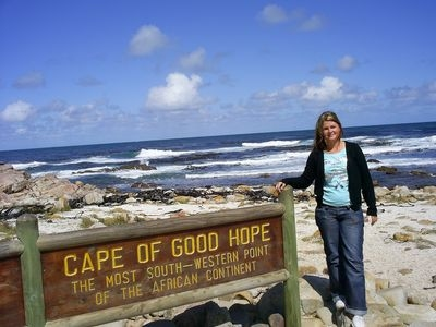 Foto af Maria ved Kap Det Gode Håb