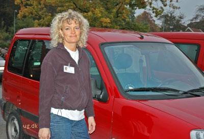 Christine kører ud til mellem seks og ti borgere hver dag.