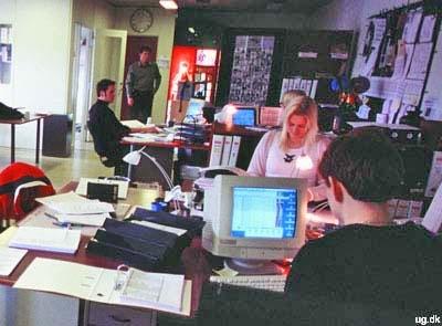 foto af tv-redaktion