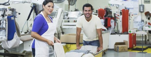 amu i industriel vask og efterbehandling af tekstiler