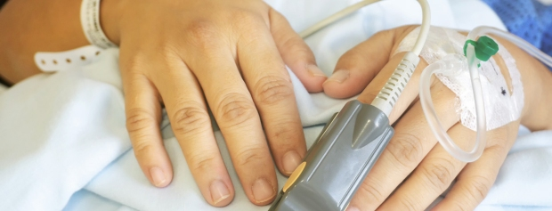 Patient, hånd med venflon