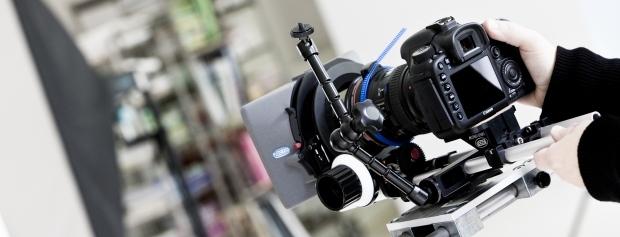 Nærbillede af professionelt kamera