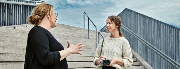 Foto af journaliststuderende © Danmarks Medie-og Journalisthøjskole