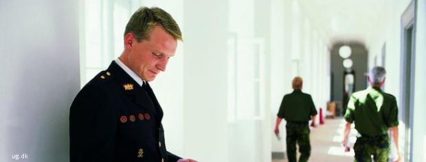 Foto af Officer i forsvaret