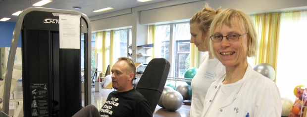interveiw med fysioterapeut på hospital