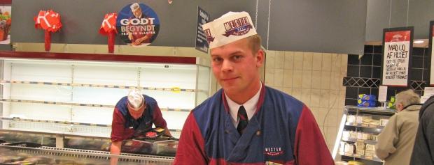 interview med slagtersvend i supermarked