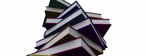 Foto af en stak bøger