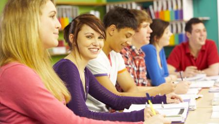 Studerende i klasse